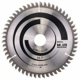 Sågklinga för trä Bosch MULTI MATERIAL; 190x2,4x30,0 mm; Z54; -5°