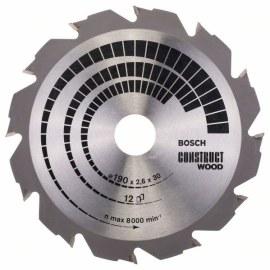 Sågklinga för trä Bosch CONSTRUCT WOOD; 190x2,6x30,0 mm; Z12; 12°