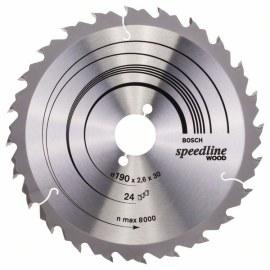 Sågklinga för trä Bosch SPEEDLINE WOOD; 190x2,6x30,0 mm; Z24; 15°