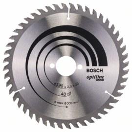 Sågklinga för trä Bosch OPTILINE WOOD; 190x2x30,0 mm; Z48; 15°