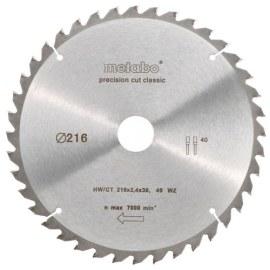 Sågklinga för trä Metabo Classic; 216x2,4x30,0 mm; Z40; -5°
