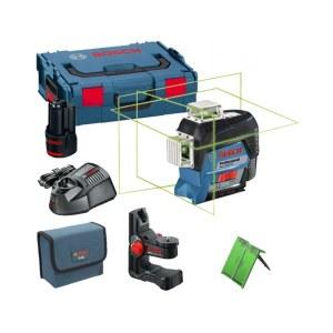 Linjelaser Bosch GLL 3-80 CG + hållare BM1 + väska L-Boxx Lazer