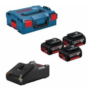 Tillbehörsset Bosch 0615990L3T; 18V; 3x5,0 Ah + laddare GAL18V-40 till batteridrivna verktyg