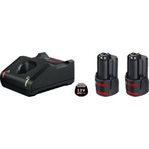 Tillbehörsset Bosch GBA; 12 V; 2x2,0 Ah + laddare GAL 12V-40