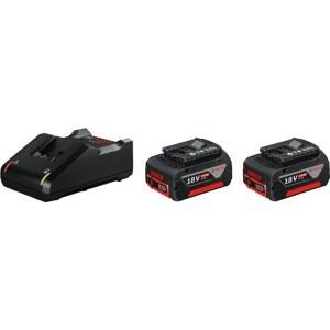 Tillbehörsset Bosch GBA; 18 V; 2x4,0 Ah + laddare GAL 18V-40