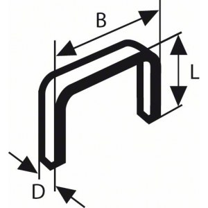 Häftklammer  Bosch; 11,4x6 mm; 1000 st.; typ 53; stål