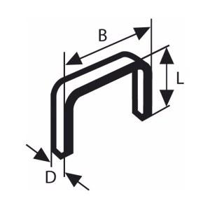 Häftklammer  Bosch; 11,4x12 mm; 1000 st.; typ 53; stål