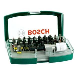 Bitssats för skruvmejsel Bosch Promoline Colored; 32 st.