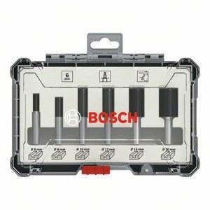 Fräs borrset Bosch Straight; 8 mm; 6 delars