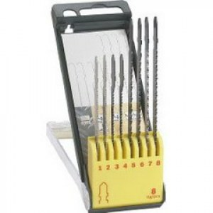 Sticksågsbladsats Bosch T118A; T119BO; T144D; T101B; T111C; 8 st.