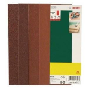 Sandpapper för planslipar 93x230 mm; K60-K240; 25 st.