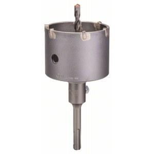 Borrkrona med skaft och centreringsborrbit 82 mm; SDS-plus; 3 st.