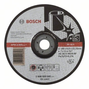 Slipskiva Bosch AS 30 S INOX BF; 180x6 mm