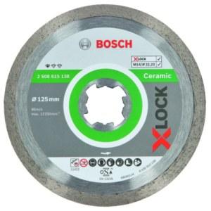 Diamantkapskiva Bosch XLOCK Standard Ceramic; 125 mm
