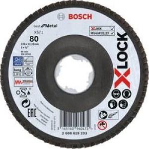 Lamellrondeller Bosch X-LOCK; 125 mm; K 80