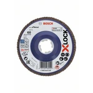 Lamellrondeller Bosch X-LOCK; Ø125 mm; P60
