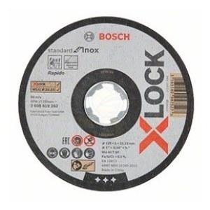 Kapskiva Bosch X-LOCK Standard for Inox; 125×1×22,23 mm; 1 st.
