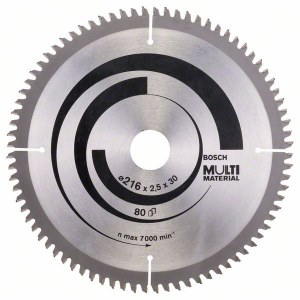Universal sågklinga Bosch MULTI MATERIAL; 216x2,5x30,0 mm; Z80; -5°