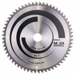 Sågklinga för trä Bosch MULTI MATERIAL; 254x3,2x30,0 mm; Z60; -5°