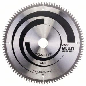 Sågklinga för trä Bosch MULTI MATERIAL; 254x3,2x30,0 mm; Z96; -5°