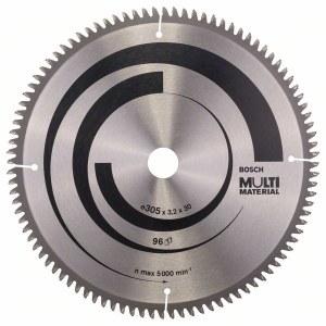 Sågklinga för trä Bosch MULTI MATERIAL; 305x3,2x30,0 mm; Z96; -5°
