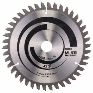 Sågklinga för trä Bosch MULTI MATERIAL; 160x2,4x20,0 mm; Z42; -5°