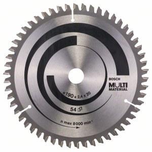 Sågklinga för trä Bosch MULTI MATERIAL; 190x2,4x20,0 mm; Z54; -5°