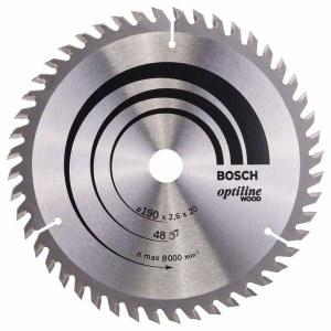 Sågklinga för trä Bosch OPTILINE WOOD; 190x2,6x20,0 mm; Z48; 15°
