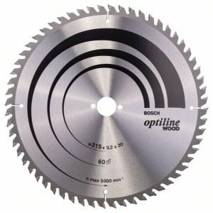 Sågklinga för trä Bosch OPTILINE WOOD; 315x3,2x30,0 mm; Z60; 10°