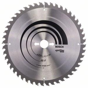Sågklinga för trä Bosch OPTILINE WOOD; 300x3,2x30,0 mm; Z48; 10°