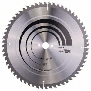 Sågklinga för trä Bosch OPTILINE WOOD; 400x3,5x30,0 mm; Z60; 10°
