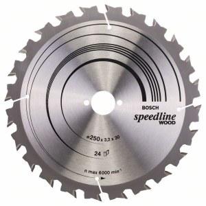 Sågklinga för trä Bosch SPEEDLINE WOOD; 250x3,2x30,0 mm; Z24; 15°