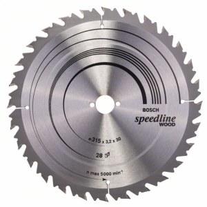Sågklinga för trä Bosch SPEEDLINE WOOD; 315x3,2x30,0 mm; Z28; 15°
