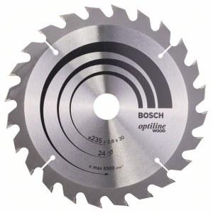 Sågklinga för trä Bosch OPTILINE WOOD; 235x2,8x30,0 mm; Z24; 15°