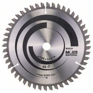 Sågklinga för trä Bosch MULTI MATERIAL; 184x2,4x16,0 mm; Z48; -5°