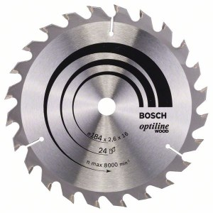 Sågklinga för trä Bosch OPTILINE WOOD; 184x2,6x16,0 mm; Z24; 15°