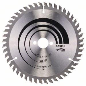 Sågklinga för trä Bosch OPTILINE WOOD; 160x1,8x20,0 mm; Z48; 15°