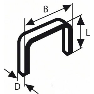 Häftklammer  Bosch; 10,6x8 mm; 1000 st.; typ 59; stål