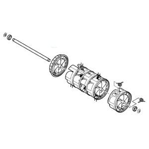 Cylinder för mossrivning Bosch ALR 900, UnoversalRake 900