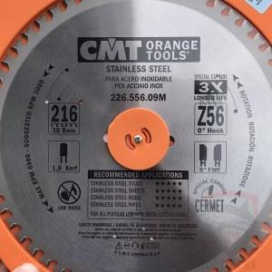 Sågklinga för metall CMT 216x1.8x30; Z56; 10°