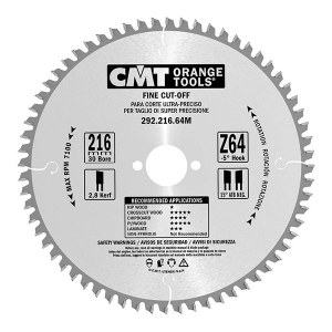 Sågklinga för trä CMT; 216x2,8x30 mm; Z64
