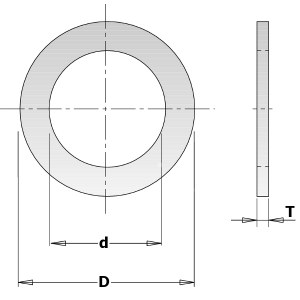 Reduktionsring CMT 299.223.00; 1,4x16,0x30 mm