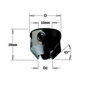 Konisk försänkare CMT 315.220.11; 22 mm; D2=11-12 mm