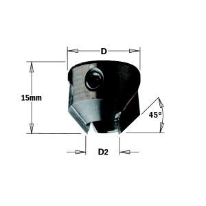 Konisk försänkare CMT 316.070.12; 16 mm; D2=7 mm
