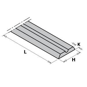 Hyvelkniv CMT 790.992.00; 92x5,5x1,1 mm; HWM; 10 st.
