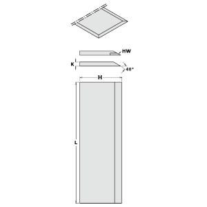 Hyvelknivar  CMT 792.251.30; 250x30x3 mm; SP; 2 st.