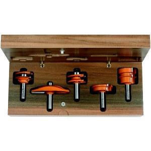 Fräs borrset CMT for kitchen; 12 mm; profile B; 5 delars