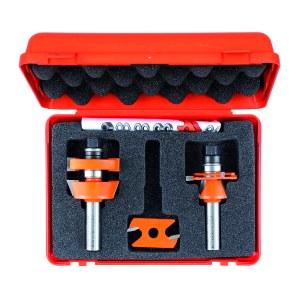 Fräs borrset CMT adjustable shaker; 12 mm; 3 delars