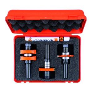Fräs borrset CMT adjustable & groove; 12 mm; 3 delars