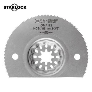 Halvrund segmentsågklinga CMT OMF113 Soft Wood; HCS; 85 mm